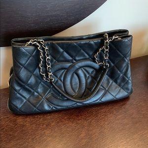 Chanel Shopper Black with SHW